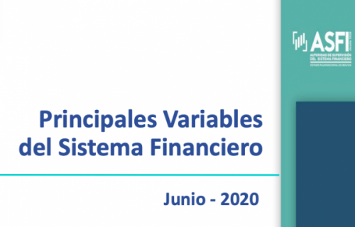 Principales Variables del Sistema Financiero Junio 2020