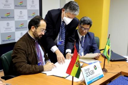 Aduanas de Bolivia y Brasil firman Acuerdo de Reconocimiento Mutuo de sus Programas OEA