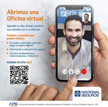 Nacional Seguros lanza la primera  oficina virtual del rubro en el país