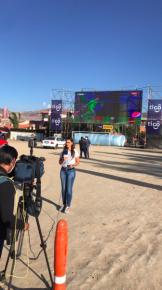 Tigo Sports trasmitió un partido de fútbol en el primer autocine de la ciudad de La Paz